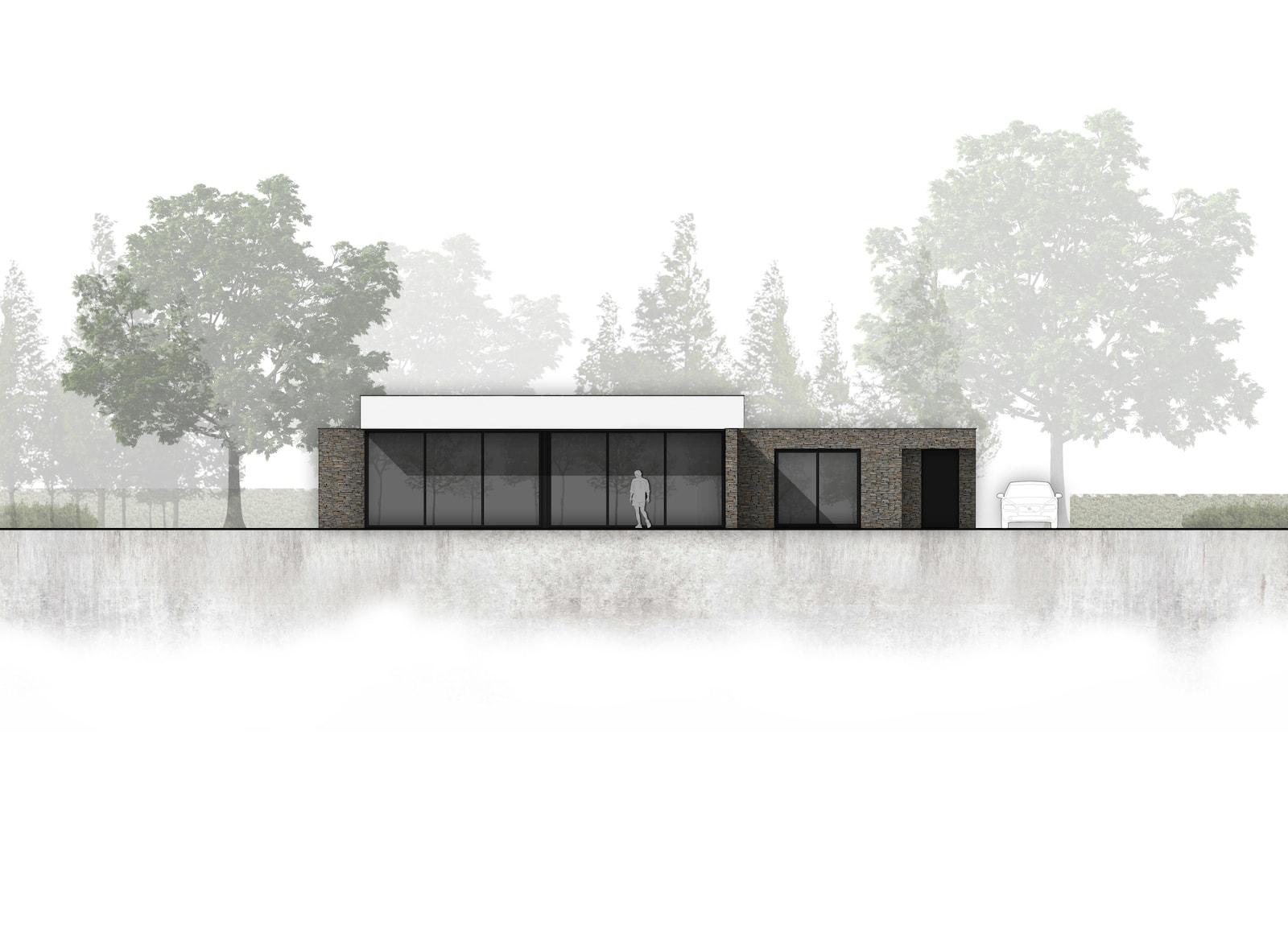 van-os-architecten-breda-nieuwbouw-moderne-bungalow-in-zichtwerk-natuurgevelsteen-en-gevelstucwerk-in-breda-achtergevel-met-overstek-en-veranda