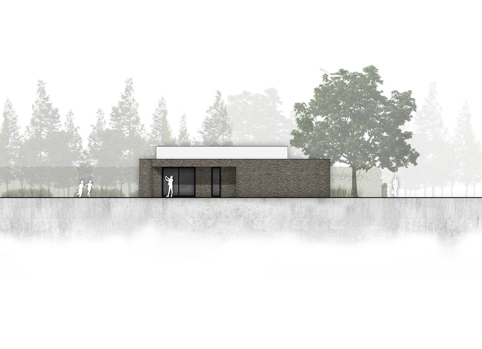 van-os-architecten-breda-nieuwbouw-moderne-bungalow-in-zichtwerk-natuurgevelsteen-en-gevelstucwerk-in-breda-overstek-zijgevel.