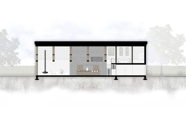 van-os-architecten-breda-nieuwbouw-schuurwoning-lieshout-met-zichtwerk-eikenhout-spanten-en-beton-volume-langsdoorsnede-met-woonkeuken-en-slaapkamer-in-betonnen-kern