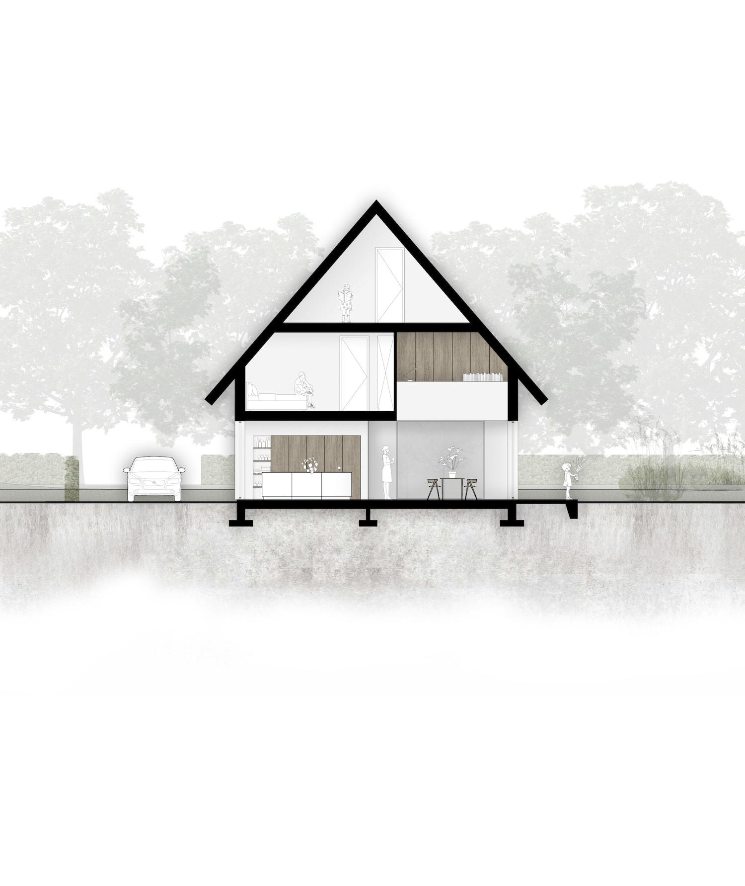 van-os-architecten-breda-nieuwbouw-woning-in-gevelstucwerk-en-stalen-dak-hoge-gouw-teteringen-doorsneden-met-vide-studieruimte-en-woonkamer-keuken