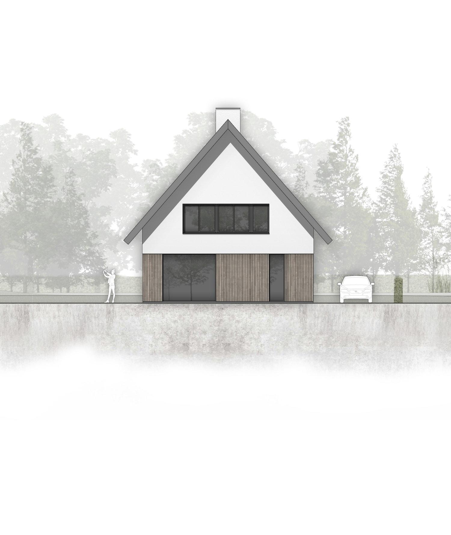 van-os-architecten-breda-nieuwbouw-woning-in-gevelstucwerk-en-stalen-dak-hoge-gouw-teteringen-voorgevel-met-houten-gevelbetimmering-en-overstekken