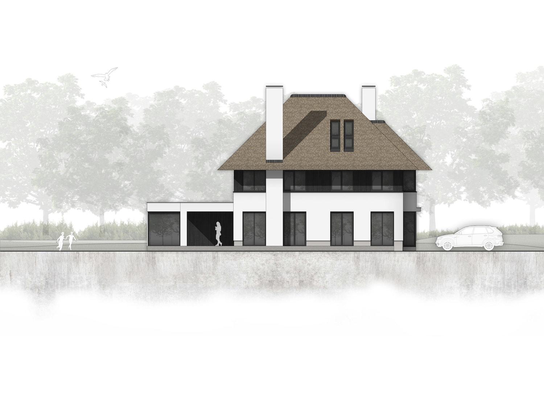 van-os-architecten-nieuwbouw-landelijke-rietgedekte-vrijstaande-villa-tegenbosch-eindhoven-linkerzijgevel-met-aluminium-puien-richting-tuin